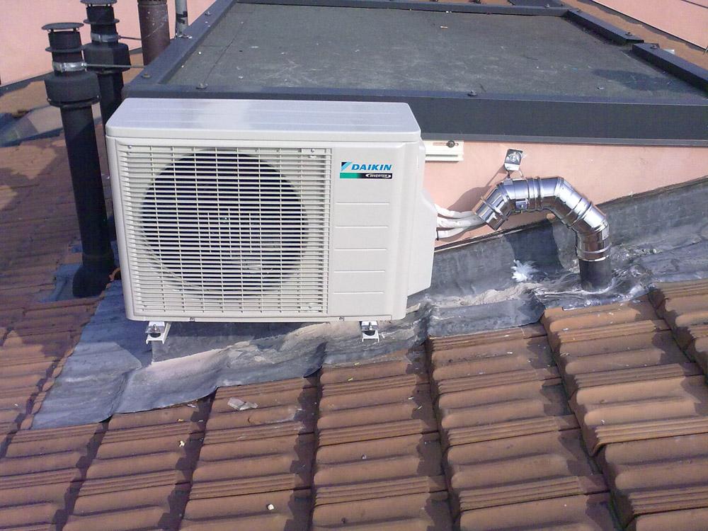 Impianto Condizionamento Xp Impianti Motore Climatizzatore Sul Tetto
